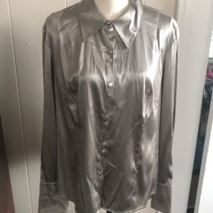 NWT Cement silk shirt